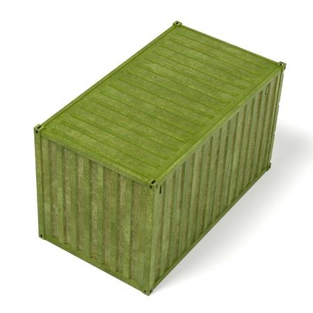 renderings: 3d renderings of rusty cargo container Stock Photo