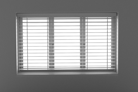 3d rendering of window with blinds Stock Photo