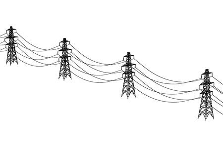 2d ilustración de dibujos animados de las líneas eléctricas Foto de archivo - 66856312