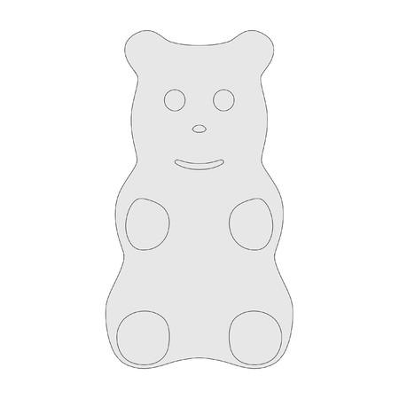sweetmeat: 2d cartoon illustration of gummy bear Stock Photo