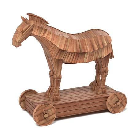cavallo di troia: realistico rendering 3D di cavallo di troia