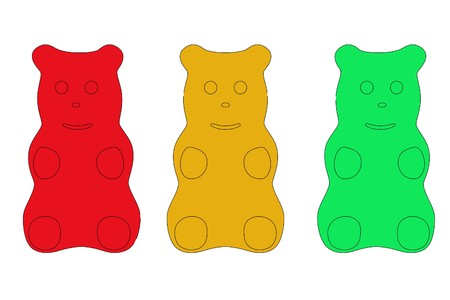 2d cartoon illustration of gummy bear Stock Photo