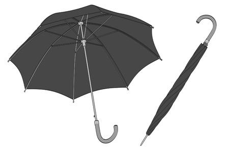 brolly: 2d cartoon illustration of umbrella Stock Photo