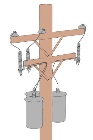 2d ilustración de dibujos animados de las líneas eléctricas Foto de archivo - 66857911