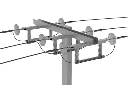 Realista 3d de la línea eléctrica Foto de archivo - 66857825