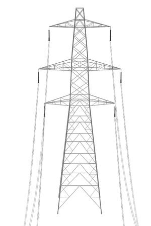 Realista 3d de la línea eléctrica Foto de archivo - 66857833
