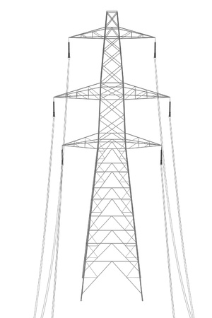 transformator: realistic 3d render of electric line