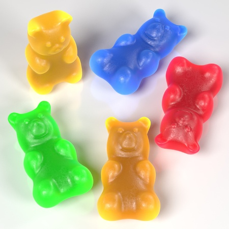 realistic 3d render of gummy bears Stock Photo