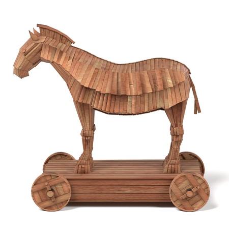 troyan: realistic 3d render of trojan horse