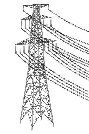 2d ilustración de dibujos animados de las líneas eléctricas Foto de archivo - 66858244