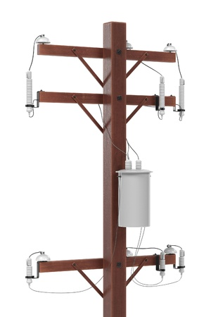 electrical tower: realistic 3d render of electric line