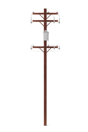 realista 3d de la línea eléctrica