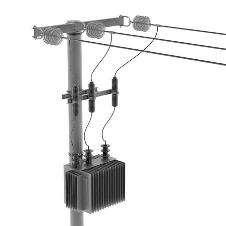 Realista 3d de la línea eléctrica Foto de archivo - 67333940