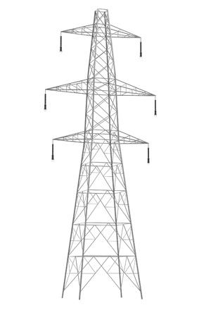 Realista 3d de la línea eléctrica Foto de archivo - 67333950