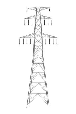 Realista 3d de la línea eléctrica Foto de archivo - 67344018