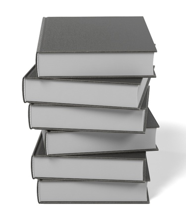 secondary: realistic 3d render of book Stock Photo