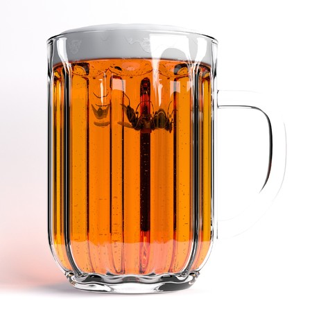 musca: 3d render of fly in beer Stock Photo