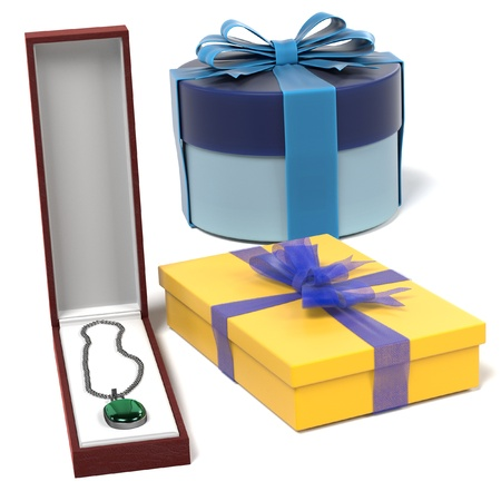 3d render of gifts set Stock Photo