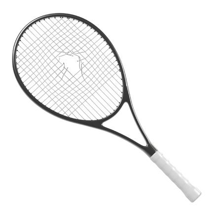 destroying: 3d render of broken tennis racket