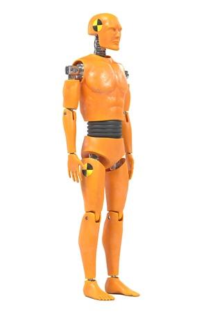 realistic 3d render of crash test dummy