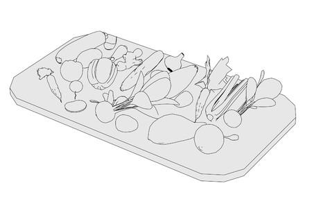 salat: 2d cartoon illustration of vegetable