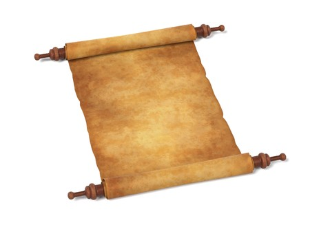 realistic 3d render of scroll Stock Photo