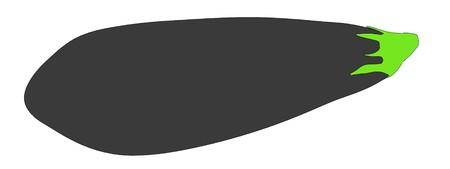 2d cartoon illustration of eggplant Stock Photo