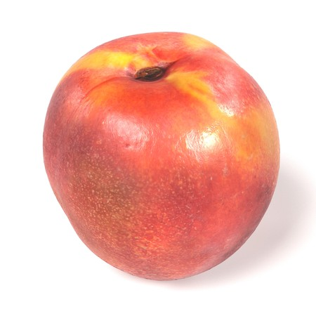 realistic 3d render of nectarine on white backround