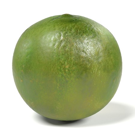 gastro: realistic 3d render of lime on white backround Stock Photo