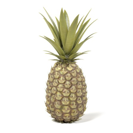 realistic 3d render of pineapple Stock Photo
