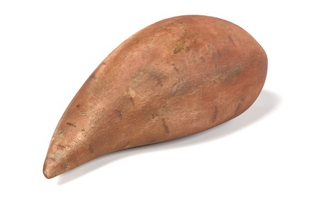 realistic 3d render of sweet potato