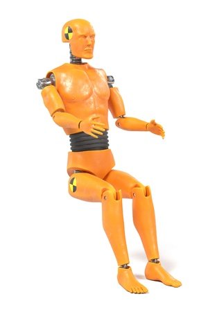 realistic 3d render of crash test dummy