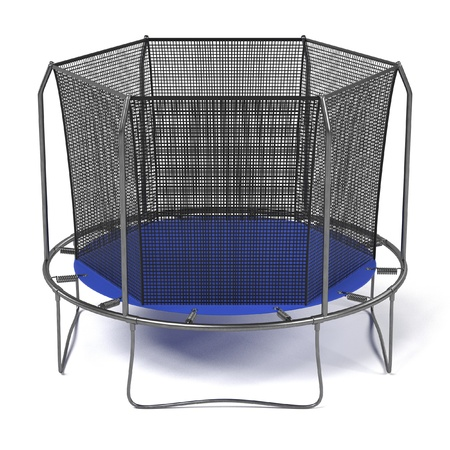 gym equipment: realistic 3d render of trampoline