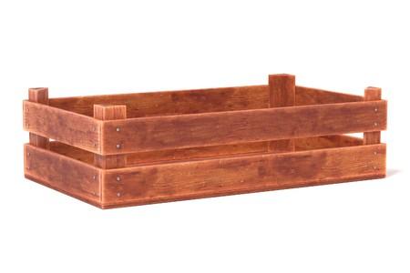 Rendu 3d réaliste de boîte en bois Banque d'images - 77701962