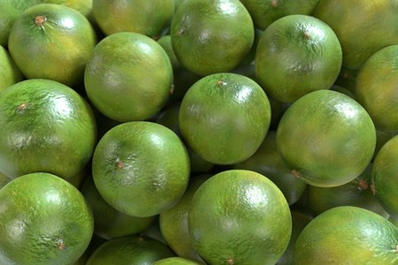 gastro: realistic 3d render of limes Stock Photo