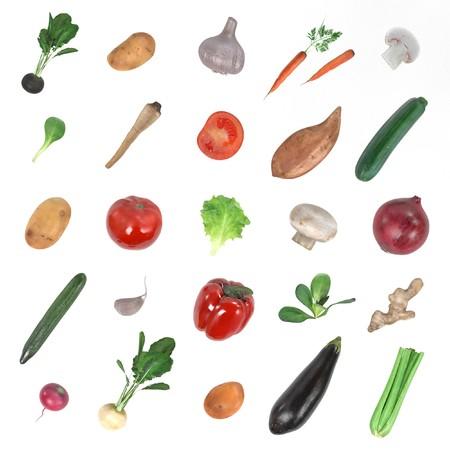 salat: realistic 3d render of vegetable set