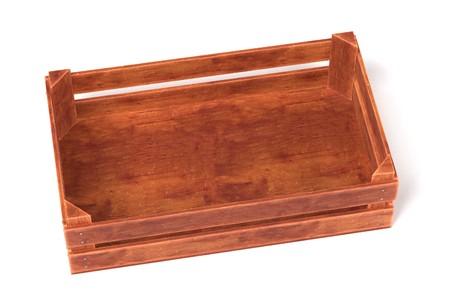 Rendu 3d réaliste de boîte en bois Banque d'images - 80987651