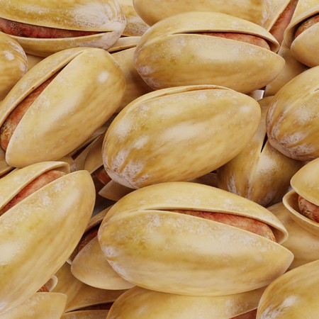 Realistic 3D Render of Pistachio Nuts