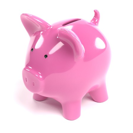 Realistic 3D Render of Piggy Bank