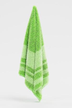 Realistic 3D Render of Towel