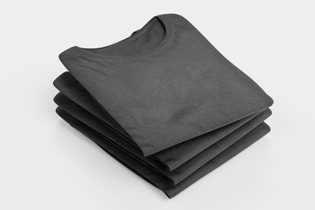 Realistic 3D Render of Folded T-Shirt Stockfoto