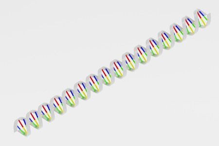 Realistic 3d Render of DNA model