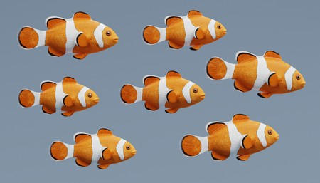Realistic 3d Render of Clownfish