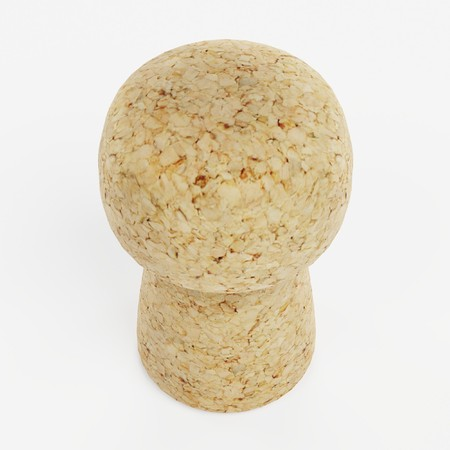 Realistic 3d Render of Champagne Cork Stock Photo