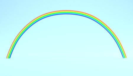Realistic 3D Render of Rainbow