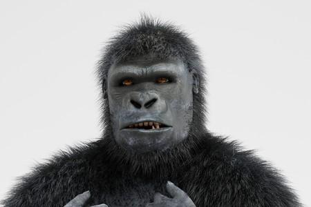 Realistische 3d übertragen von Gorilla Standard-Bild - 100045782