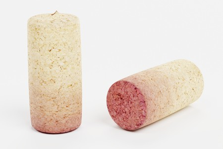 Realistic 3D Render of Wine Corks Stock Photo
