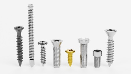 Realistic 3D Render of Screws