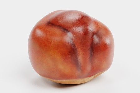 Realistic 3D Render of Chestnut Stock Photo