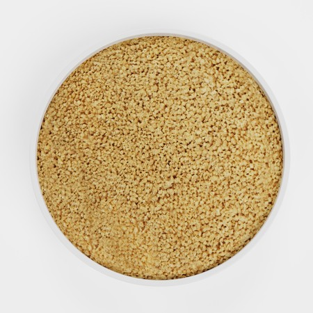 Realistic 3D Render of Couscous in Bowl